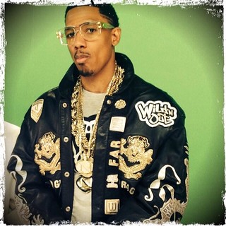 Nick Cannon on the set of Wild & out wearing a Limited Edition custom leather jacket @nickcannon | by Jeffhamiltonjackets
