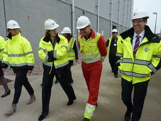 Amber Rudd at the BritNed Converter Station in Kent | by DECCgovuk