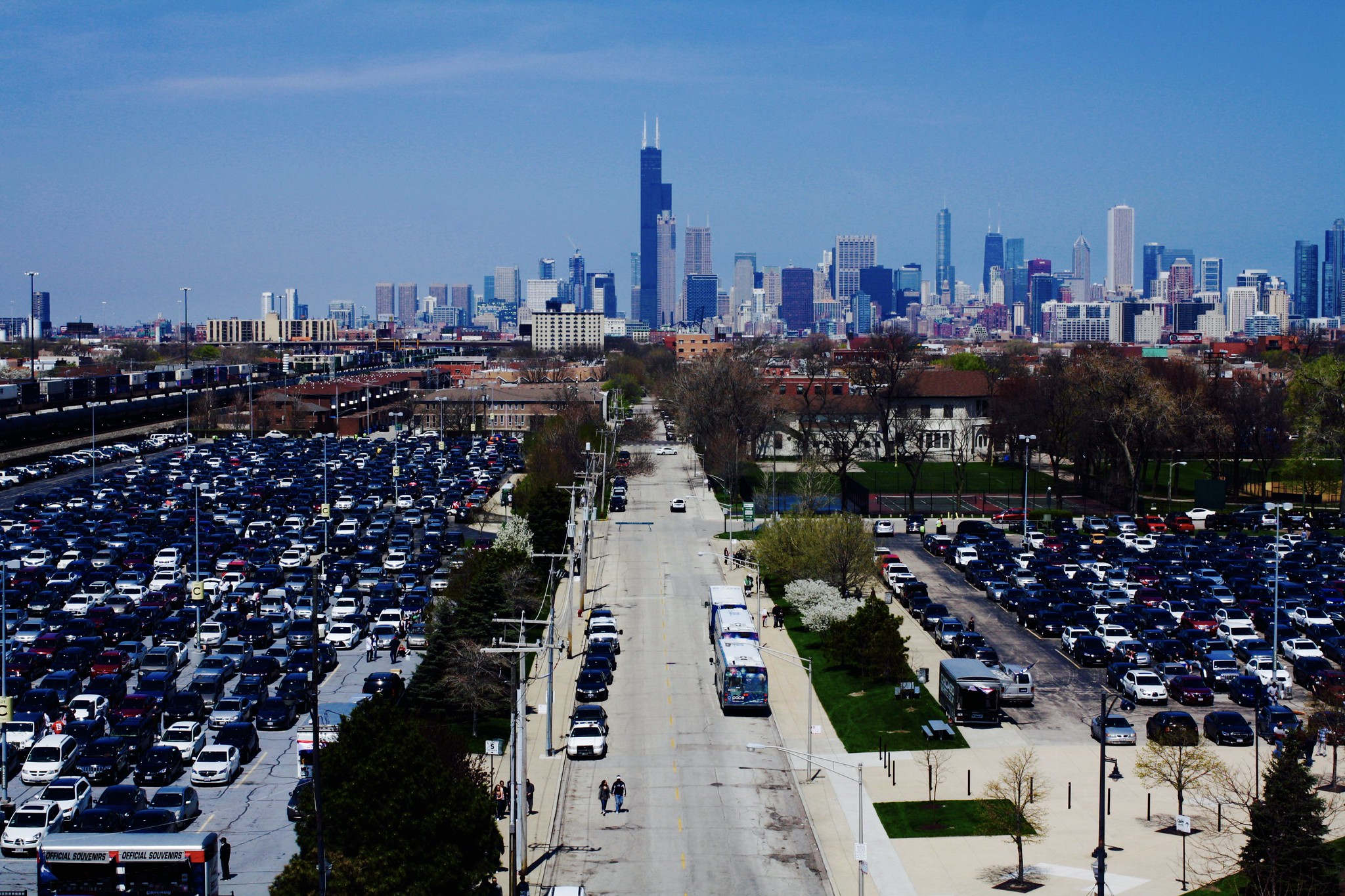 Chicago Skyline from U.S. Cellular Field