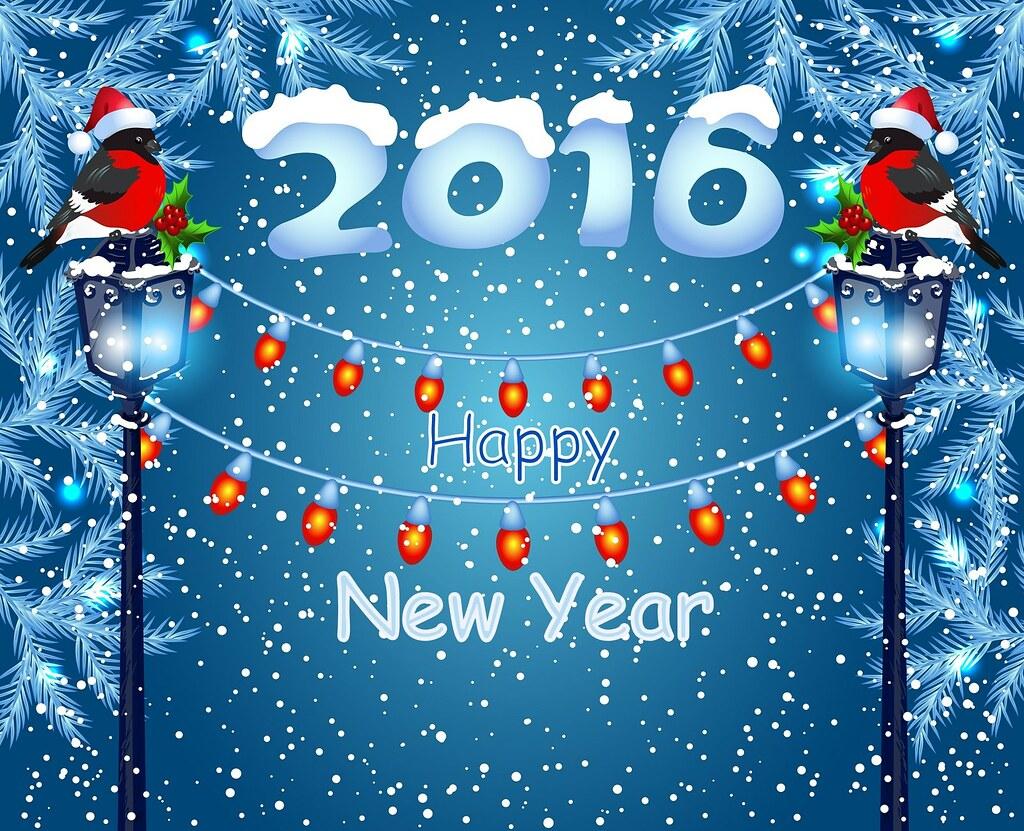 Happy New Year 2016 Card Hd Wallpaper Stylishhdwallpaper Flickr