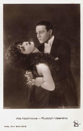 Alla Nazimova and Rudolph Valentino in Camille (1921)