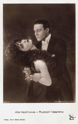 Alla Nazimova and Rudolph Valentino in Camille (1921)