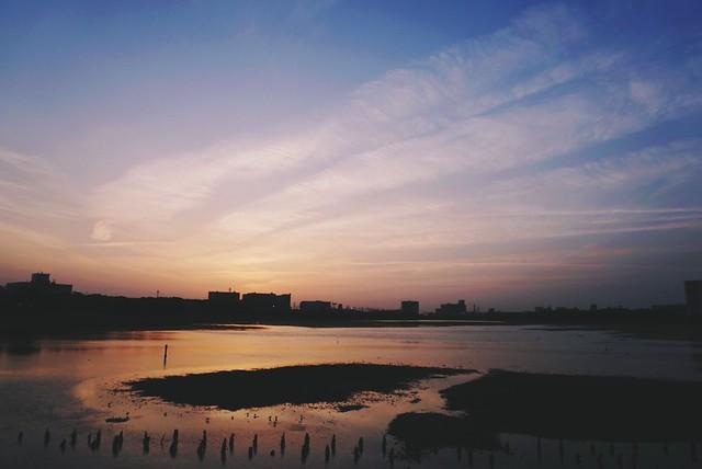 久しぶりの夕暮れ時の空