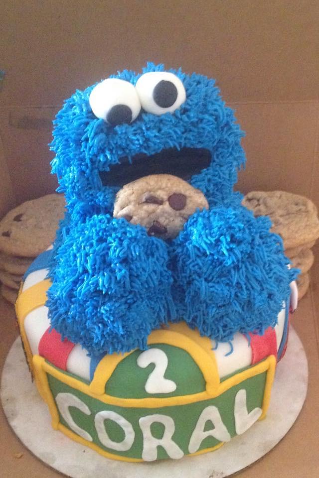Cookie Monster Cake Seattle Wa Birthdaycakes4freec Flickr