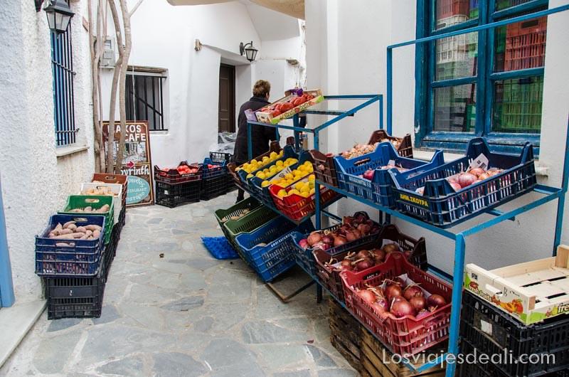 frutas y verduras en la gastronomía griega