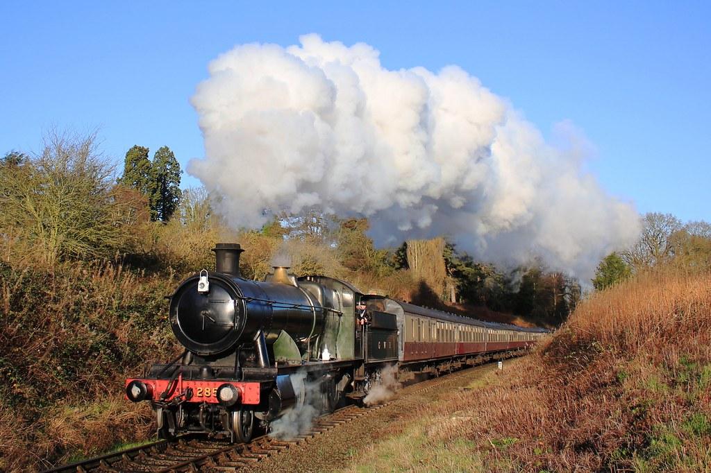 Steam locomotive 2857 on the Severn Valley Railway near Bridgnorth