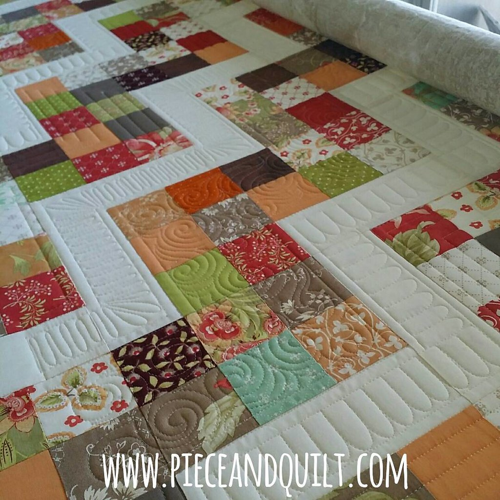 Quilting On This Beauty Today Piecenquilt Longarmqui Flickr
