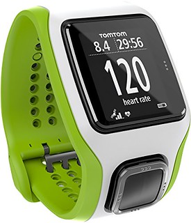 TomTom Runner Cardio GPS Watch,One Size,Green/White