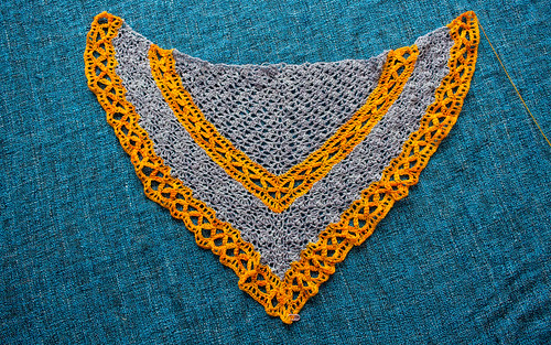 Rose City Yarn Crawl MCAL - Rimsky-Korsacoffee-Cake Shawl Clue 2 | by Terriko