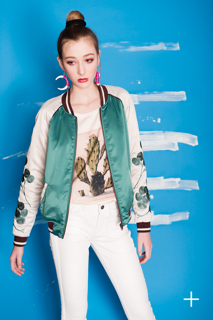 Silky Bomber Jacket Photo Printed Top And La Bohemienne M Flickr