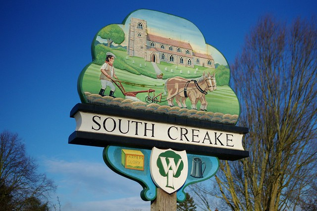 Village sign South Creake North Norfolk - archiving