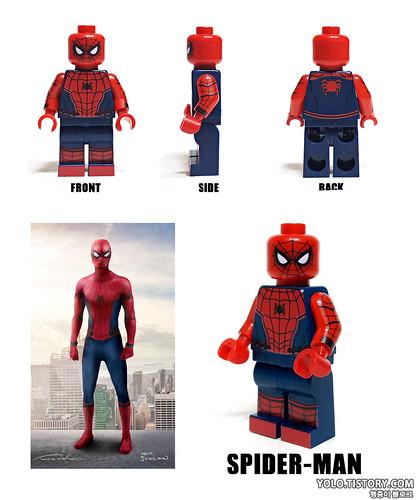 Lego Civil War Sipderman Minifigure By Hobbybrick