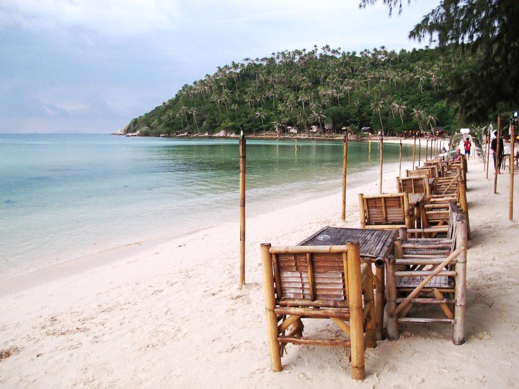 Salad beach à Koh Phangan en Thailande.