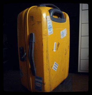 Battle scars on my #yellow suitcase. For #365days project, 37/365.