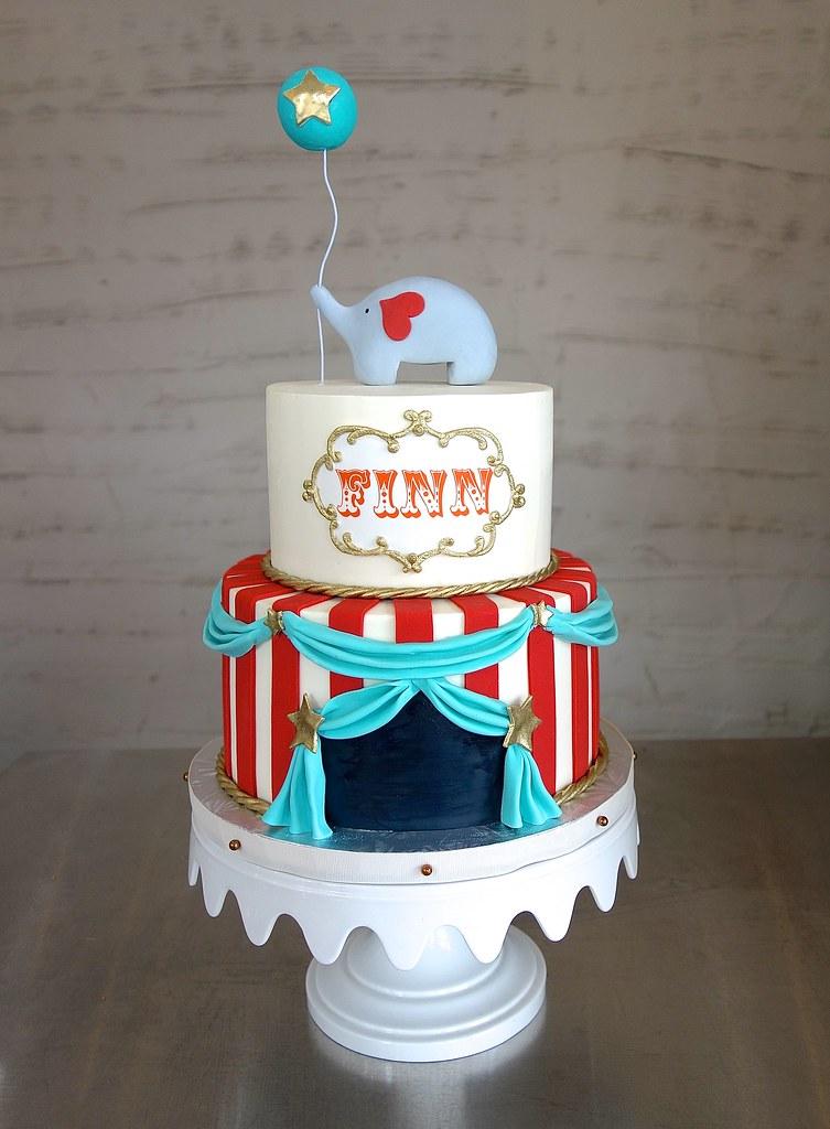 vintage circus baby shower cake sasa flickr