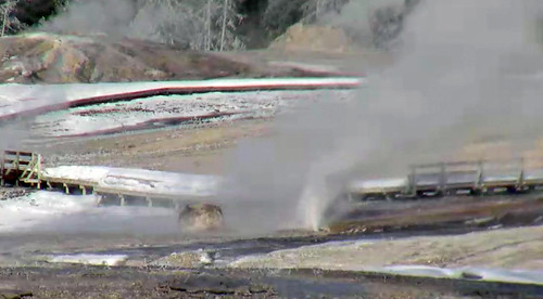 Beehive's Indicator Geyser eruption (11:11-11:33 AM, 21 February 2016) 1 | by James St. John