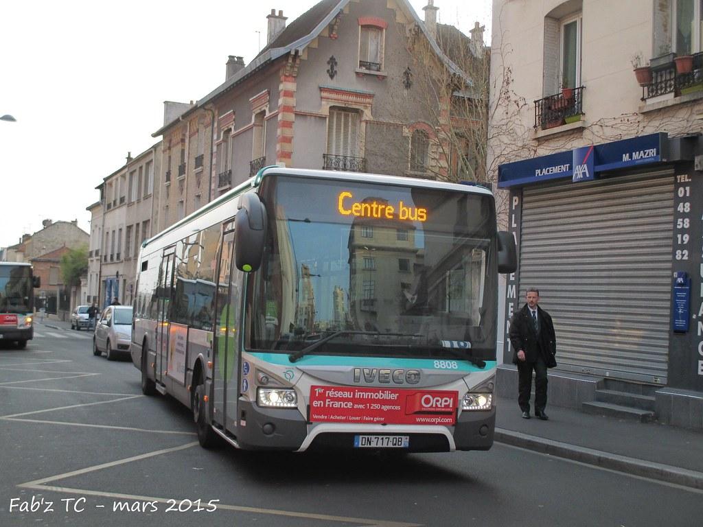 RATP : Urbanway 12 Stif n° 8808 de la ligne 378 sur le Bus
