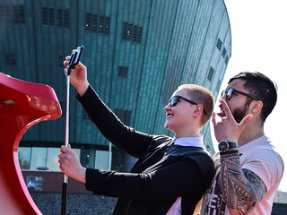 Street photo, Amsterdam - Selfie outside NEMO Science Center | by Maria Eklind