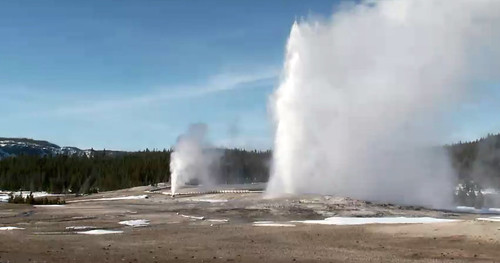Beehive Geyser-Old Faithful Geyser dual eruption (3:51-3:54 PM, 4 March 2016) 1 | by James St. John