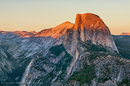 Sunset over Half Dome from Glacier Point | Yosemite National Park, CA | September, 2014  by Somnath Mukherjee Photoghaphy