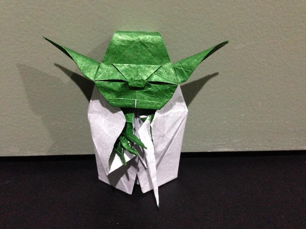 Origami Yoda Model By Fumiaki Kawahata Folded By Me Alana Wu