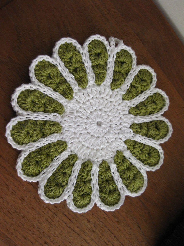 Potholder Crochet In Drops Paris C G Flickr