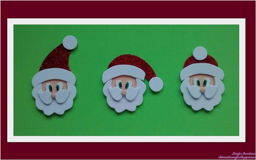 Goma EVA Navidad Santa Claus Navidad con Marca de Agua Flickr