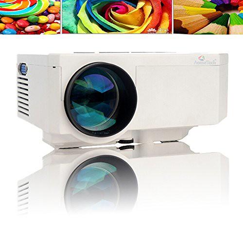 Aometech multi media hd portable 1080p led projection micr for Micro projector 1080p
