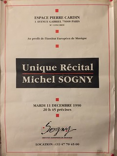 RECITAL MICHEL SOGNY ESPACE CARDIN 1990 | by msogny