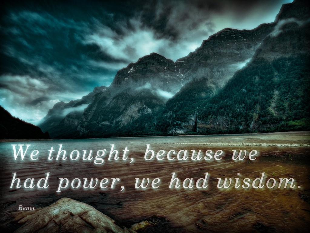 power and wisdom