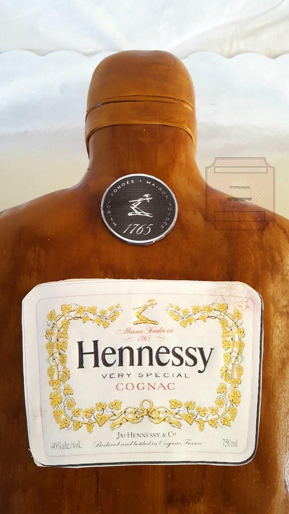 Hennessy Bottle Birthday Cake 50th Birthday Hennessy Bottl Flickr
