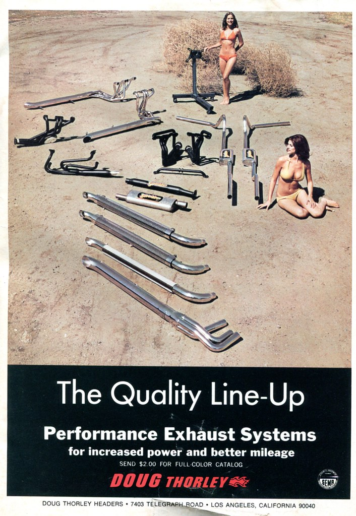 1976 Doug Thorley Exhaust Systems Advertisement Hot Rod August