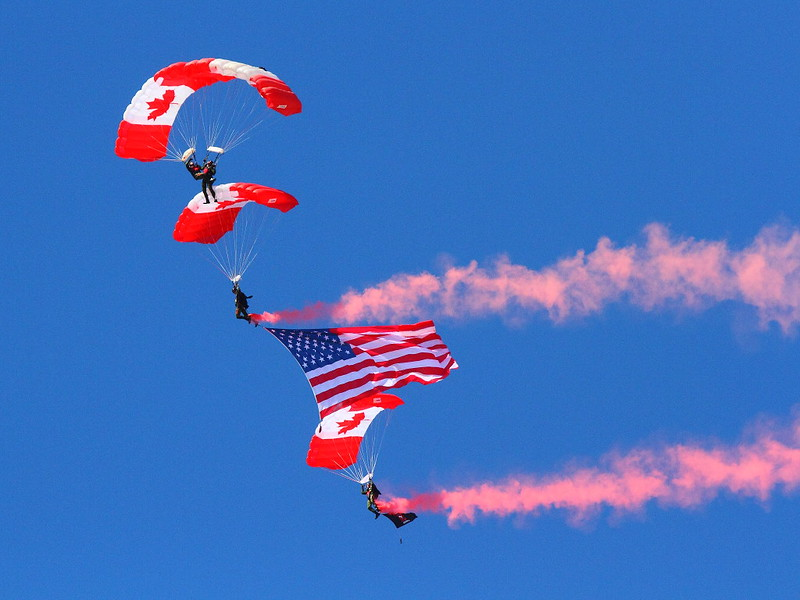 IMG_7641 Canadian SkyHawks Parachute Team, March Field Airfest
