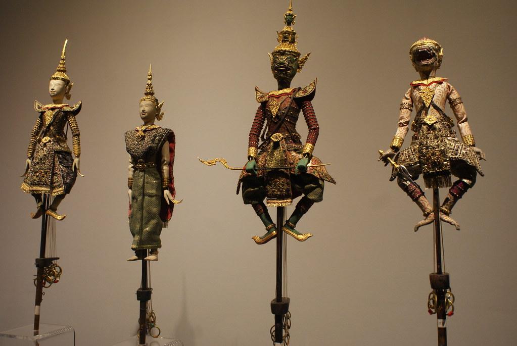 Marionnettes thailandaises au Musée National de Bangkok.