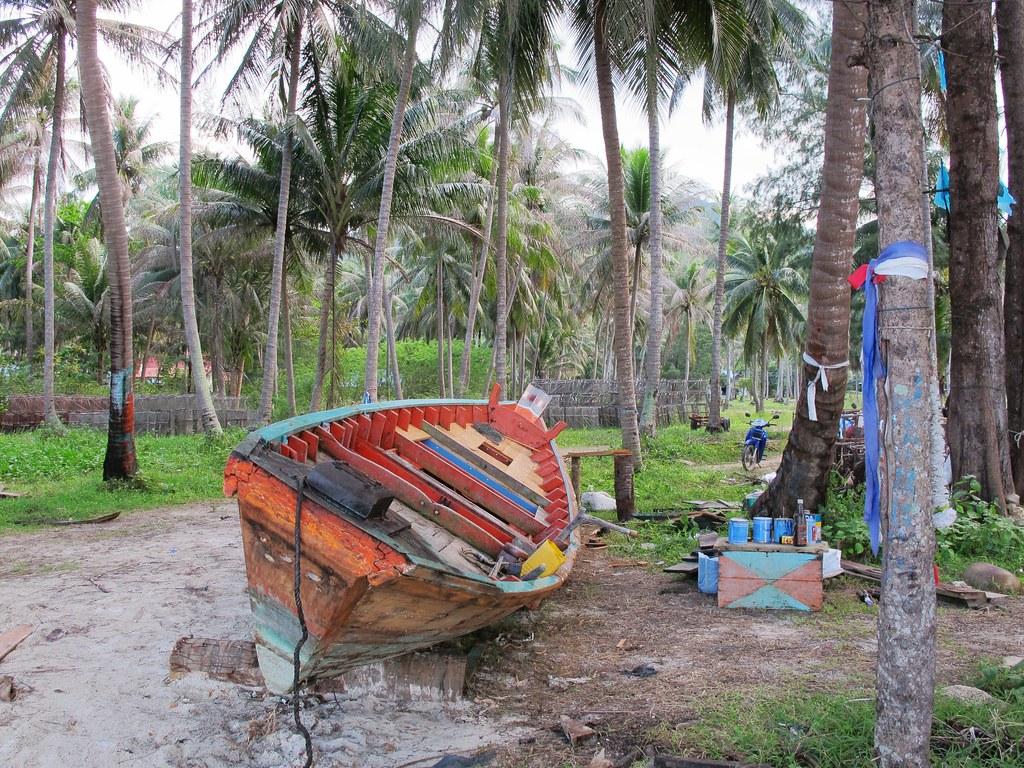 En attendant de reprendre la mer sur l'île de Koh Phangan en Thailande.
