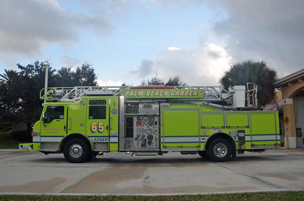 Elegant ... Emergency_Vehicles Palm Beach Gardens Fire Rescue Ladder 65 | By  Emergency_Vehicles