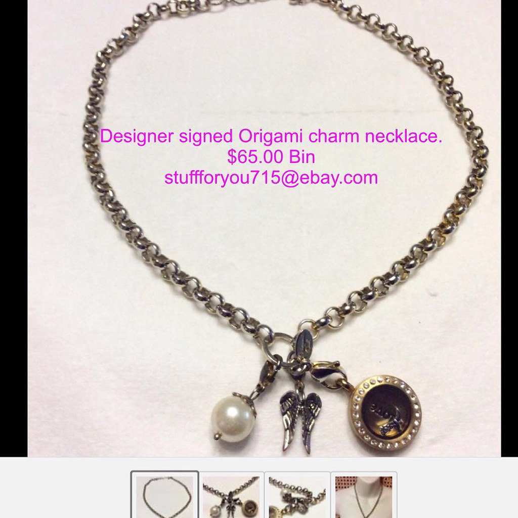 Designer Signed Origami Owl Necklace With Rose Gold Pendan Flickr