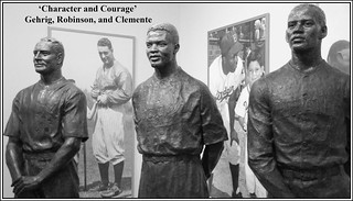 'Character and Courage' -- Gehrig, Robinson, and Clemente at the Baseball Hall of Fame Cooperstown (NY) 2016 | by Ron Cogswell