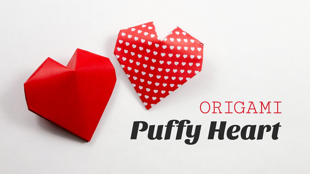 Origami Puffy Heart Instructions 3d Paper Heart Origami Flickr