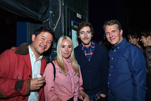 David Chow, Mollie and Thomas Middleditch, Jonathan Wells at Green Room, LA Premiere after-party | by helloflux