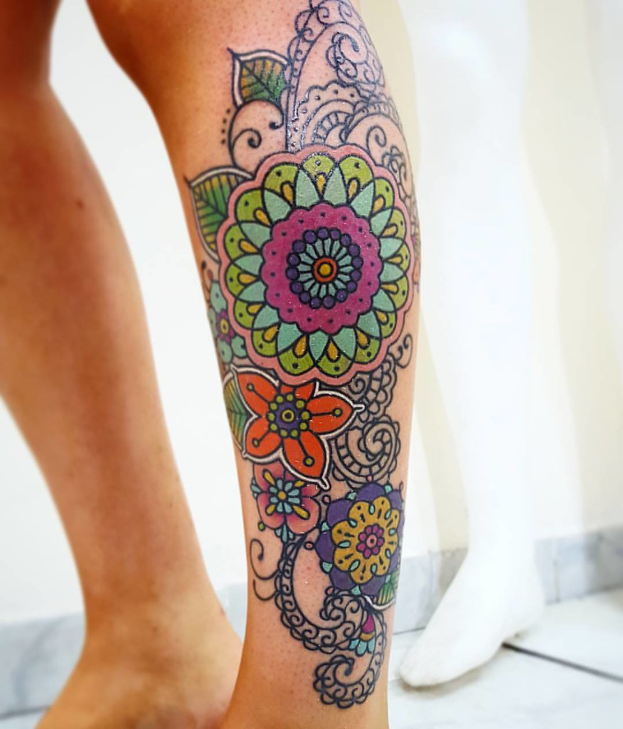 Mandala Full Color Blonde Tattoo Studio Artista Gonzalo T Flickr