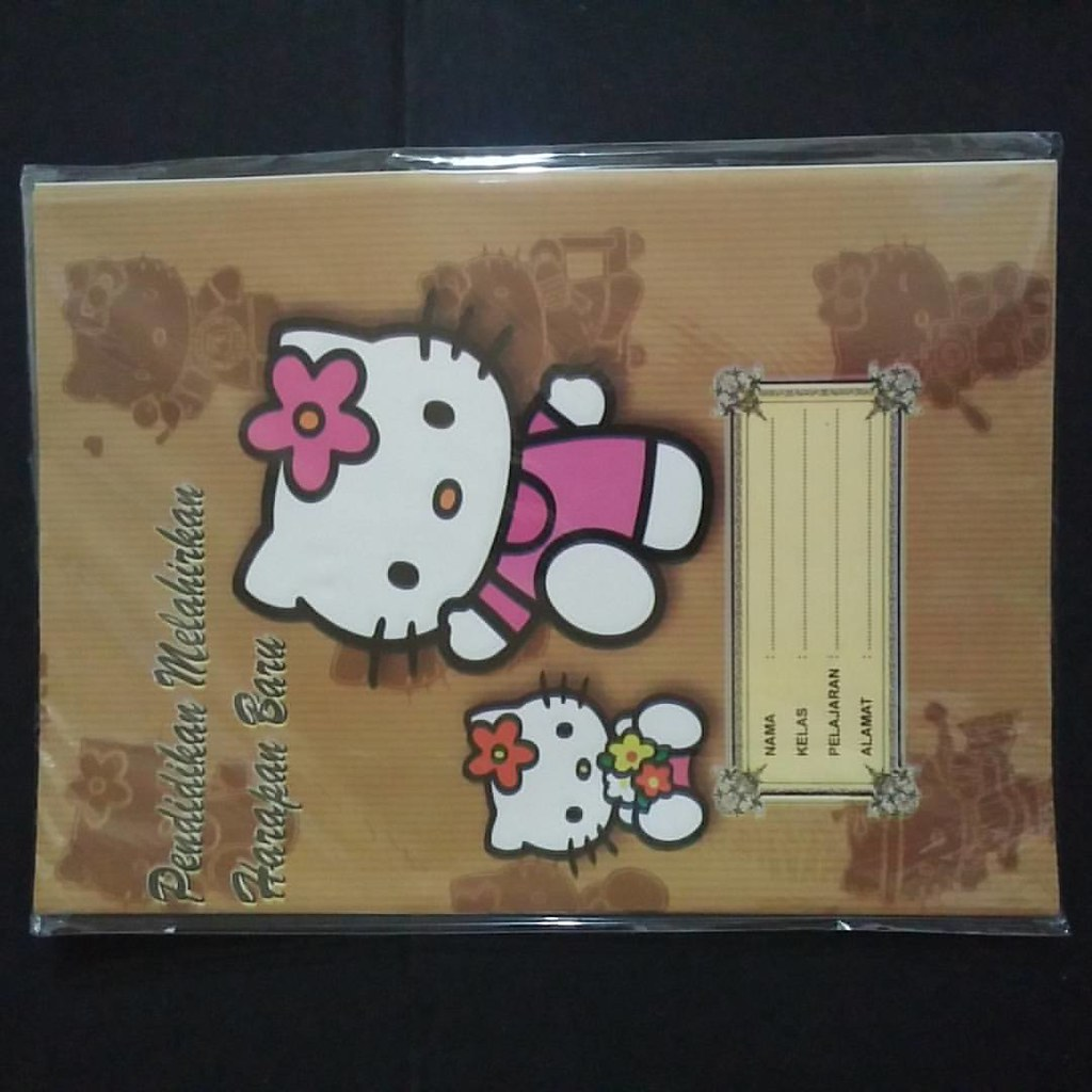 Sampul Buku Coklat Kuarto Hello Kitty Rp7500 Pak No863 Uk Flickr Gambar Ukuran 255