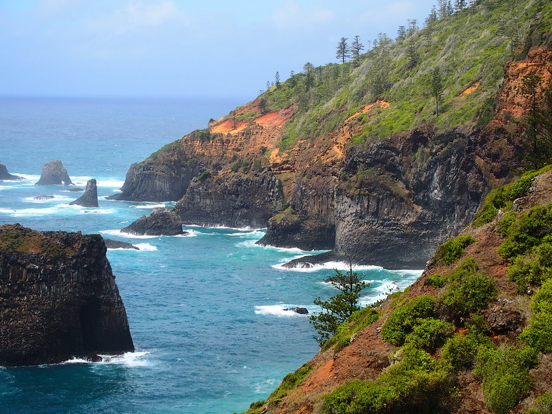 Northern Islets from Captain Cook Lookout, Norfolk Island