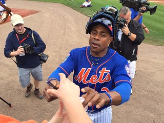 Curtis Granderson signing my ball | by Julie Rubes