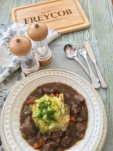 Slow cooked beef shin in Aldi Fleurie red wine | by Freycob.co.uk