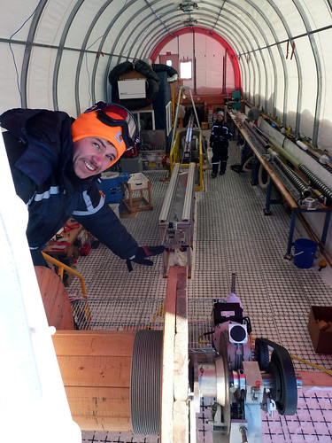 Removing the 1,600-meter long cable from the winch drum | by U.S. Ice Drilling