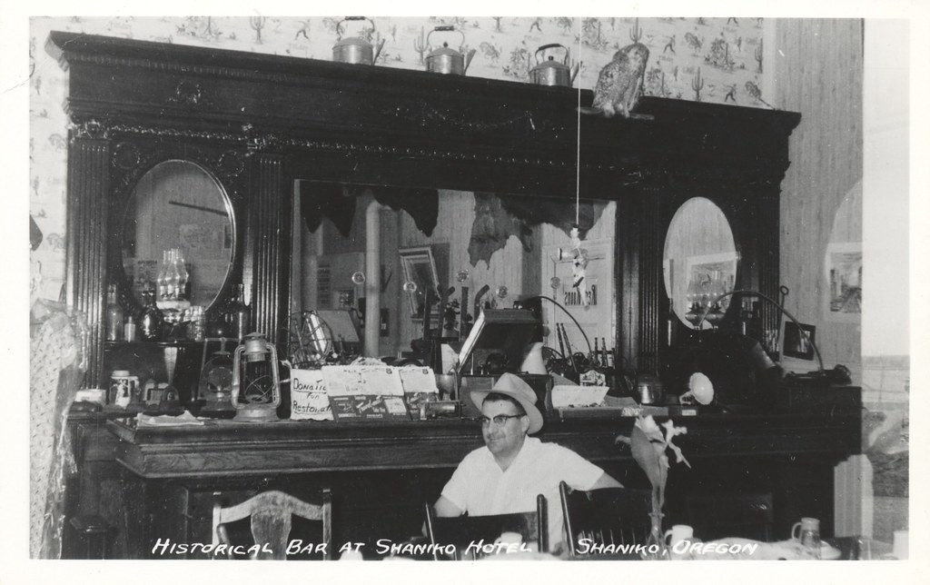 Historical Bar at Shaniko Hotel - Shaniko, Oregon