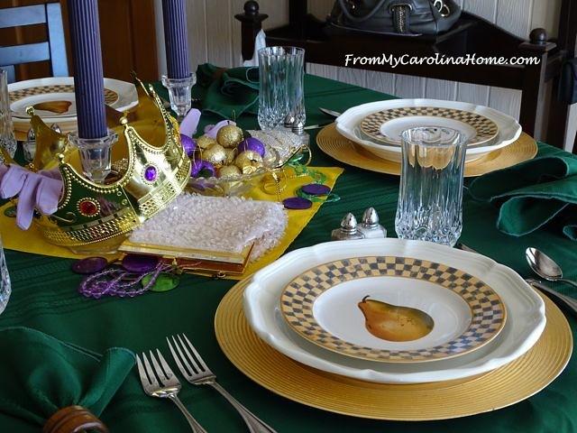 Mardi Gras Tablescape | From My Carolina Home