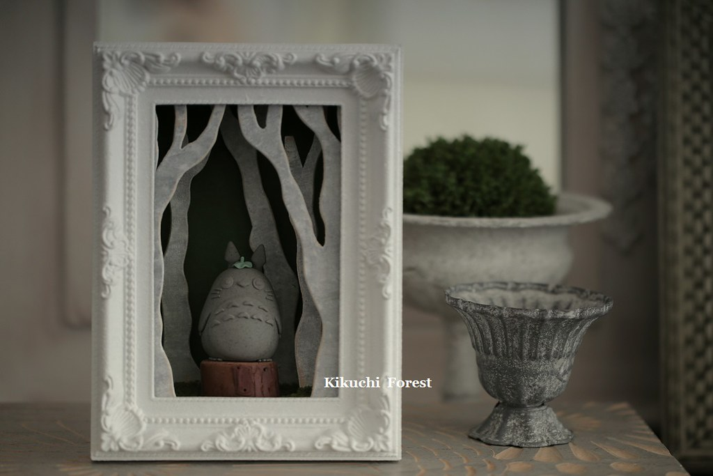 ... Totoro Shadow Box, Handmade Kitty, Cat, Handmade Home Deco,handmade  Wooden Decor