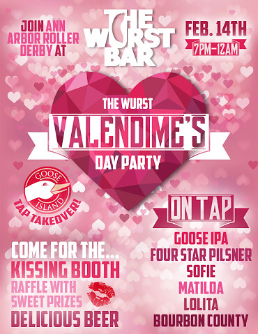 the wurst valendime s day party flier join a2d2 at the wur flickr